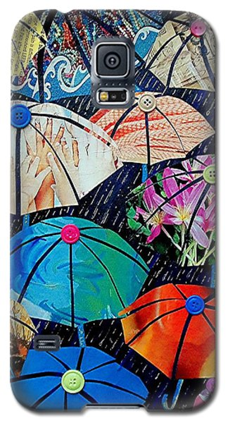 Galaxy S5 Case featuring the painting Rainy Day Personalities by Susan DeLain
