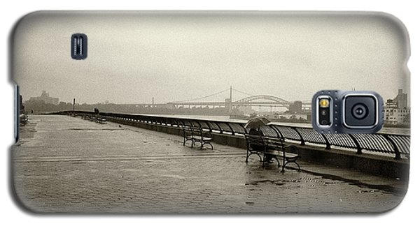 Galaxy S5 Case featuring the photograph Rainy Days Sepia by Dave Beckerman