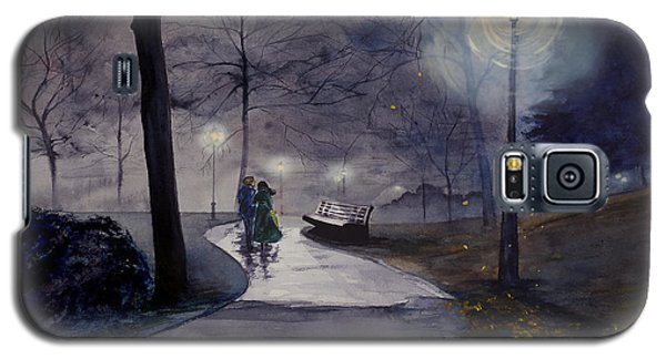 Rainy Night In Central Park Galaxy S5 Case