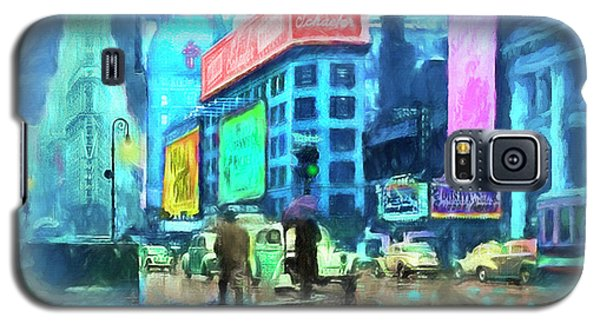 Galaxy S5 Case featuring the painting Rainy Night In New York by Michael Cleere
