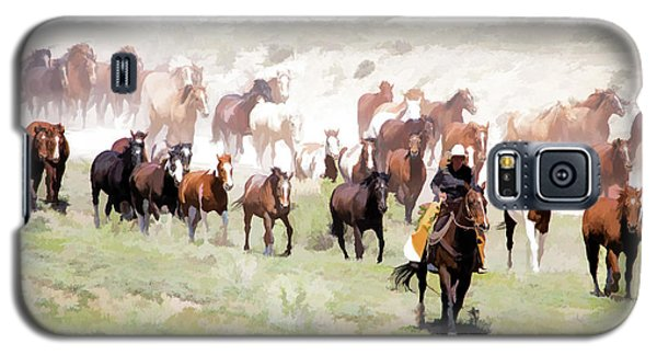 Raising Dust On The Great American Horse Drive In Maybell Colorado Galaxy S5 Case