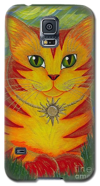 Rajah Golden Sun Cat Galaxy S5 Case by Carrie Hawks