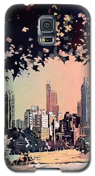 Galaxy S5 Case featuring the painting Raleigh Skyline V by Ryan Fox