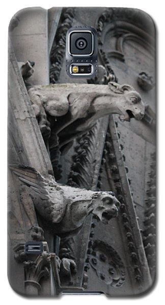 Galaxy S5 Case featuring the photograph Ram And Eagle Griffon Notre Dame by Christopher Kirby
