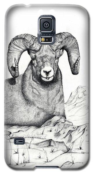 Galaxy S5 Case featuring the drawing Ram by Mayhem Mediums