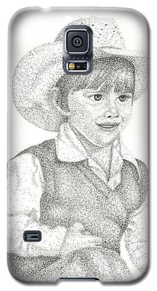 Galaxy S5 Case featuring the drawing Ranch Hand by Mayhem Mediums