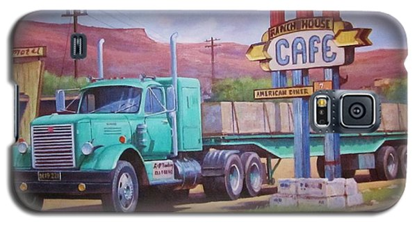 Galaxy S5 Case featuring the painting Ranch House Truckstop. by Mike Jeffries