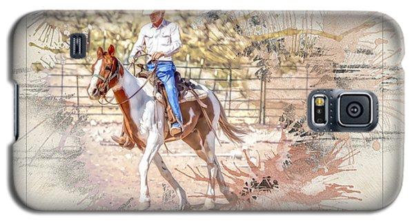Ranch Rider Digital Art-b1 Galaxy S5 Case