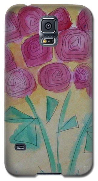 Galaxy S5 Case featuring the painting Randi's Roses by Kim Nelson