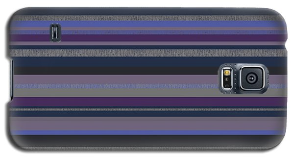 Galaxy S5 Case featuring the digital art Random Stripes - Grayed Blues And Purple by Val Arie