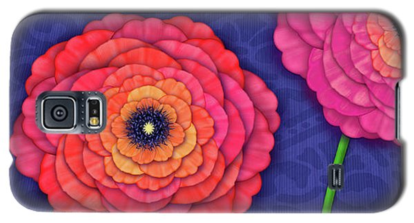 Ranunculus In Blue And White Vase Galaxy S5 Case