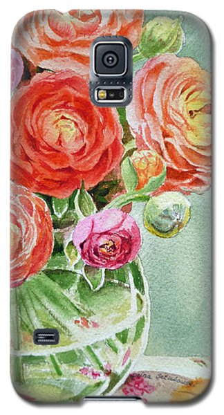 Ranunculus In The Glass Vase Galaxy S5 Case