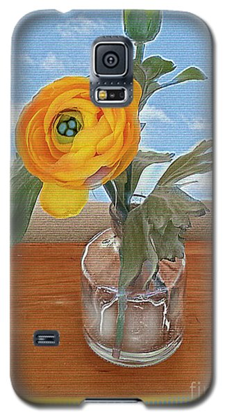 Galaxy S5 Case featuring the digital art Ranunculus Spring by Alexis Rotella