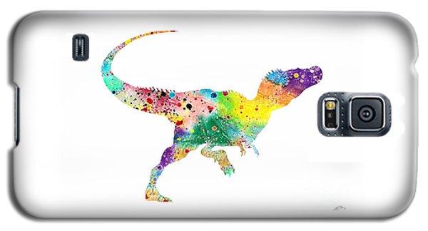Raptor 2 Dinosaur Watercolor Galaxy S5 Case by Svetla Tancheva