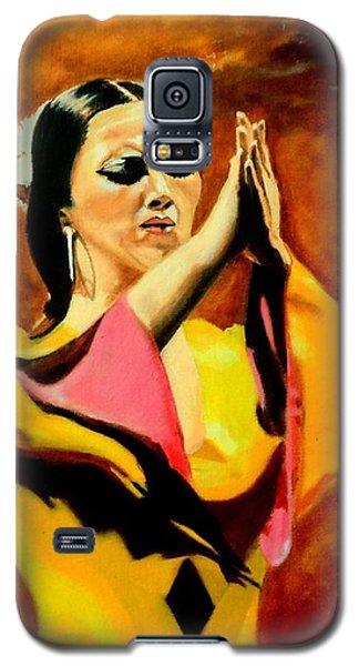 Raquel Heredia - Flamenco Dancer Galaxy S5 Case by Manuel Sanchez
