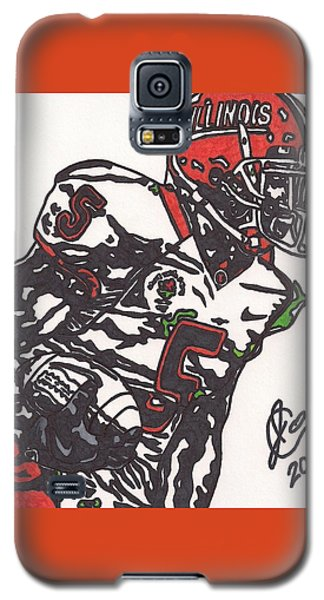 Galaxy S5 Case featuring the drawing Rashard Mendenhall 1 by Jeremiah Colley
