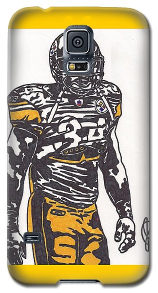 Galaxy S5 Case featuring the drawing Rashard Mendenhall 2 by Jeremiah Colley