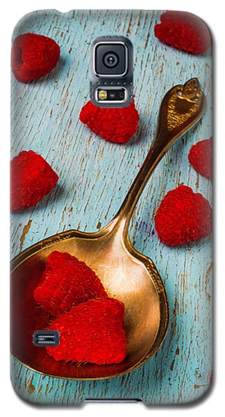 Raspberries With Antique Spoon Galaxy S5 Case