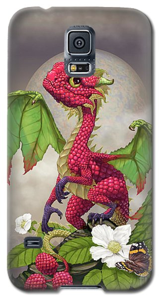 Galaxy S5 Case featuring the digital art Raspberry Dragon by Stanley Morrison