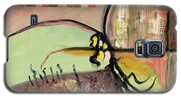 Galaxy S5 Case featuring the painting Rational Thought Begins Here by Paul McKey
