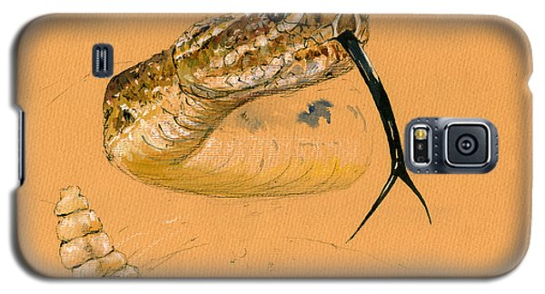 Reptiles Galaxy S5 Case - Rattlesnake Painting by Juan  Bosco
