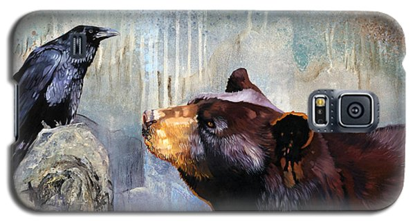 Raven And The Bear Galaxy S5 Case