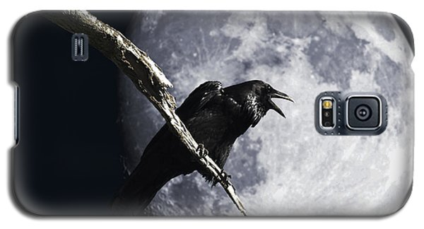 Raven Barking At The Moon Galaxy S5 Case