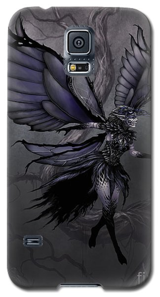 Galaxy S5 Case featuring the digital art Raven Fairy by Stanley Morrison