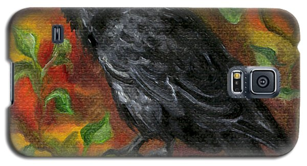 Raven In Autumn Galaxy S5 Case