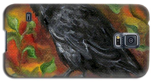 Raven In Autumn Galaxy S5 Case