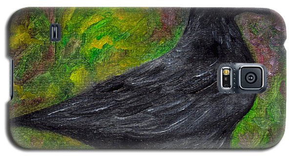 Raven In Goldenrod Galaxy S5 Case