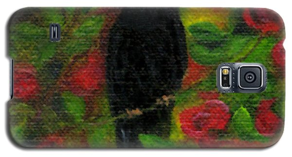 Raven In Roses Galaxy S5 Case