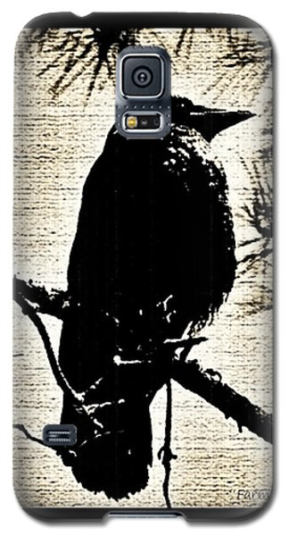 Raven On The Lookout Galaxy S5 Case