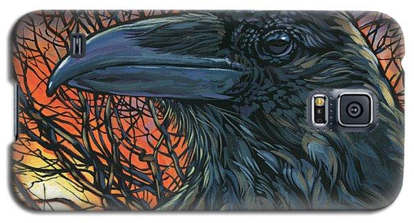 Raven Orange Galaxy S5 Case