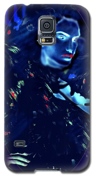 Galaxy S5 Case featuring the digital art Raven Woman by Seth Weaver