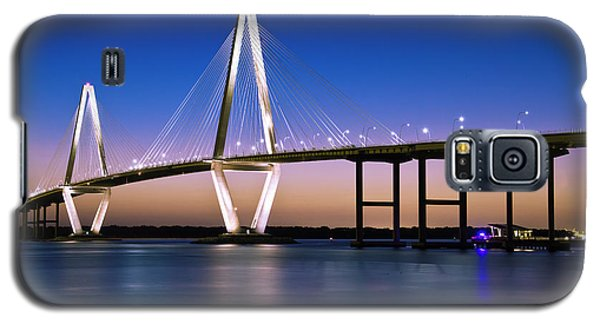 Galaxy S5 Case featuring the photograph Ravenel Bridge 2 by Bill Barber