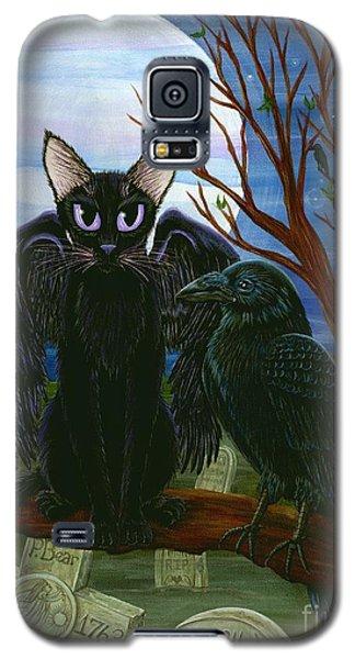 Raven's Moon Black Cat Crow Galaxy S5 Case