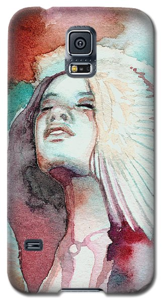 Galaxy S5 Case featuring the painting Ravensara by Ragen Mendenhall