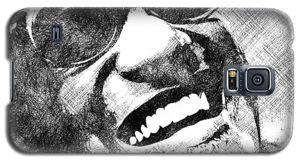 Ray Charles Bw Portrait Galaxy S5 Case by Mihaela Pater