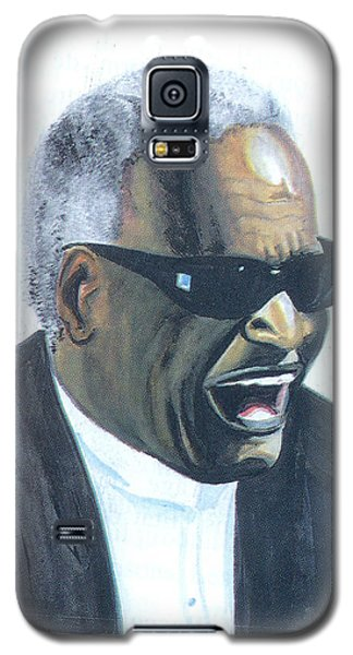 Galaxy S5 Case featuring the painting Ray Charles by Emmanuel Baliyanga