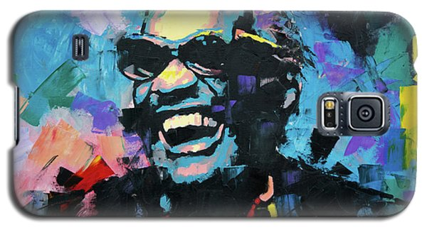 Galaxy S5 Case featuring the painting Ray Charles by Richard Day