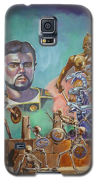 Galaxy S5 Case featuring the painting Ray Harryhausen Tribute Jason And The Argonauts by Bryan Bustard