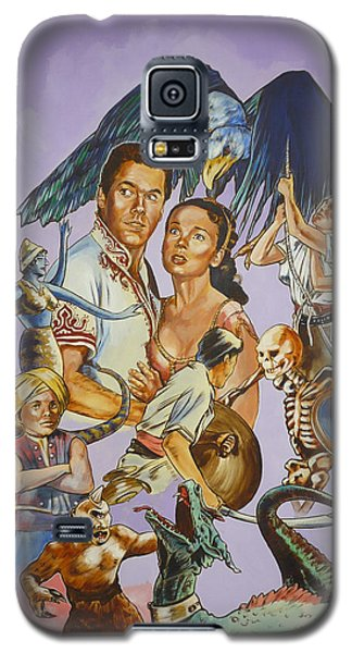 Galaxy S5 Case featuring the painting Ray Harryhausen Tribute Seventh Voyage Of Sinbad by Bryan Bustard