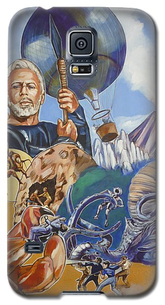 Galaxy S5 Case featuring the painting Ray Harryhausen Tribute The Mysterious Island by Bryan Bustard