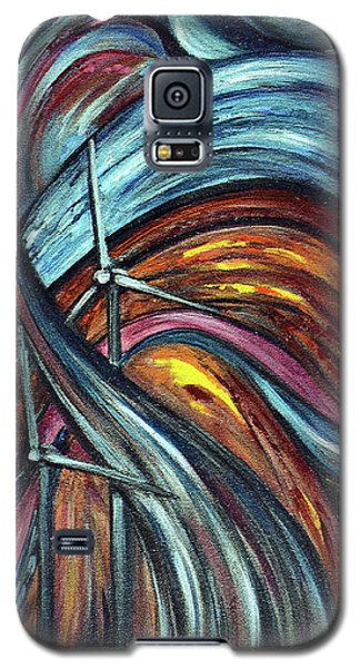 Galaxy S5 Case featuring the painting Ray Of Hope 2 by Harsh Malik