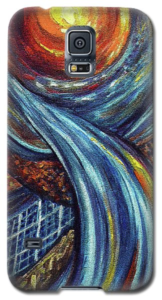 Galaxy S5 Case featuring the painting Ray Of Hope 3 by Harsh Malik
