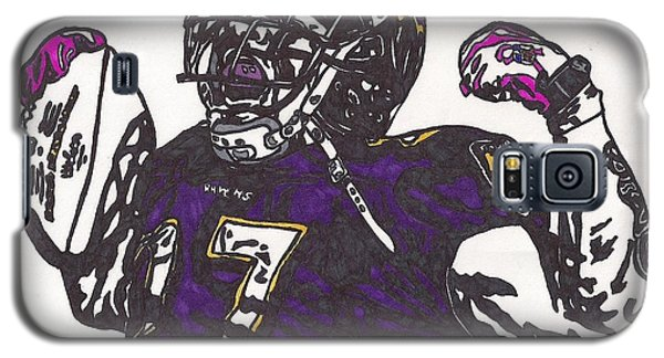 Galaxy S5 Case featuring the drawing Ray Rice 1 by Jeremiah Colley