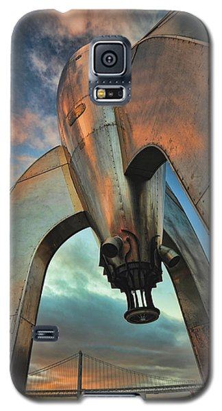 Galaxy S5 Case featuring the photograph Raygun Gothic Rocketship Blast-off by Steve Siri