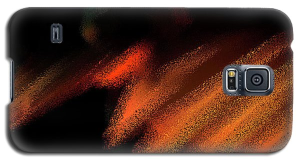 Rays In Orange And Gold Galaxy S5 Case