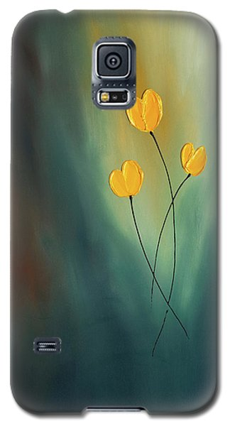 Galaxy S5 Case featuring the painting Rays Of Hope by Carmen Guedez